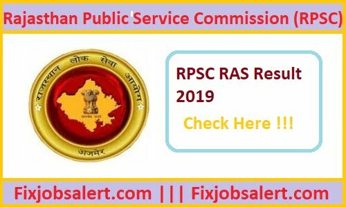 RPSC RAS Result 2019 @ rpsc.rajasthan.gov.in RAS Mains Results, Cut Off Marks