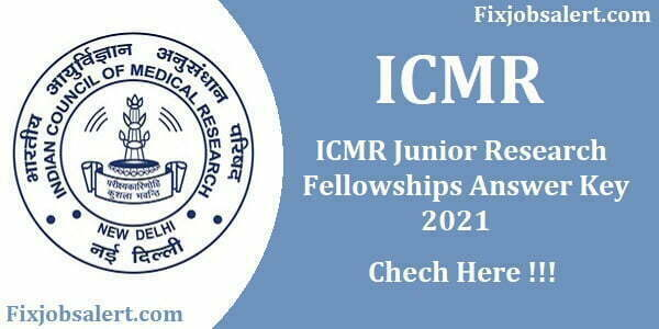 ICMR JRF Answer Key 2021 Ques Paper Download, Cut Off