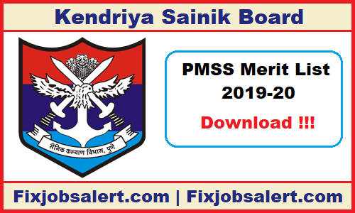 PM Scholarship Merit List 2019-20 PMSS CAPF & AR Selected
