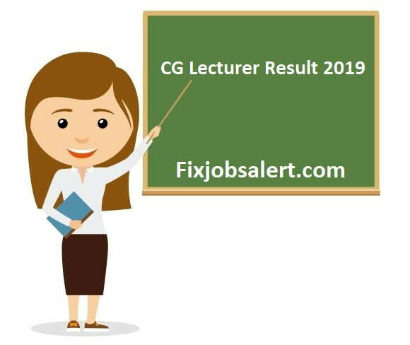 CG Vyapam Assistant Teacher Result 2019 Check CG Lecturer Cut Off Marks