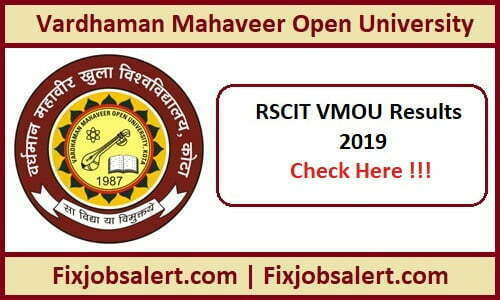 RSCIT Result 2019 20th Oct VMOU RKCL Results Name Wise @ rkcl.vmou.ac.in
