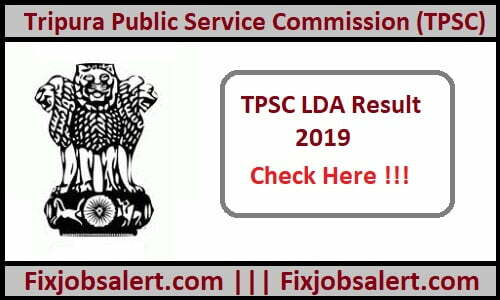 TPSC LDA Result 2019 @ tpsc.nic.in Lower Division Assistant Cum Typist Results, Merit List