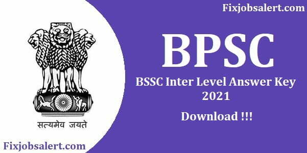 BSSC 1st Inter Level Answer Key 2021 Stenographer Inter Level Paper Solution
