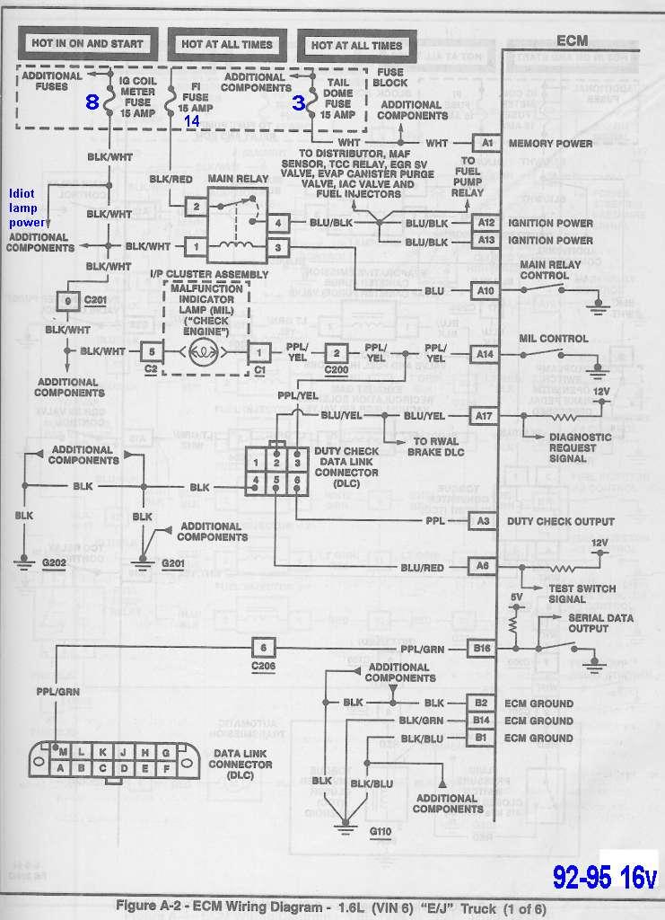 1992 Geo Tracker Injector Diagram Wiring Schematic