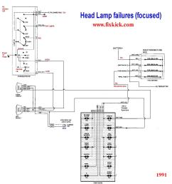 what you need to make engine run the basic schematics pagethe 1991 unified head light [ 1534 x 1633 Pixel ]