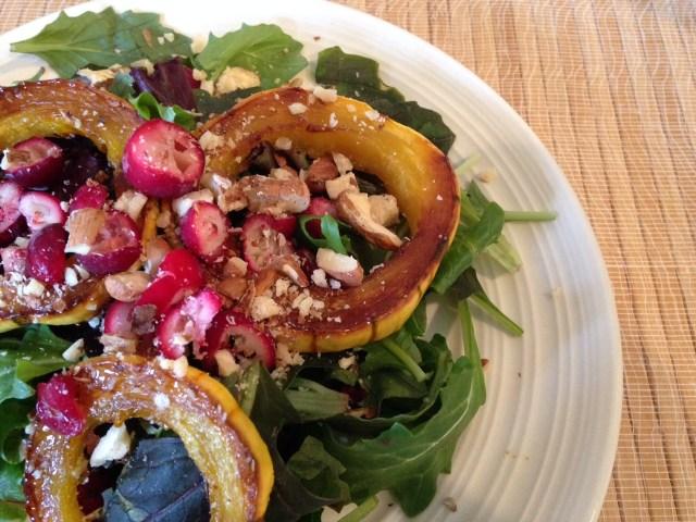 Midwinter Delicata Squash Salad