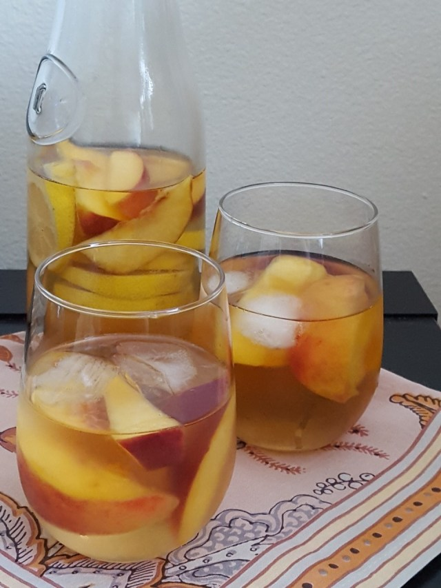 Peach Sangria with Carafe