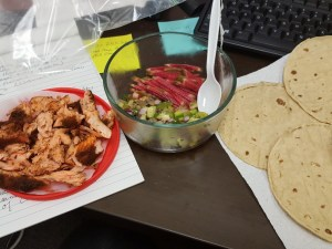 salmon fish taco office assembly
