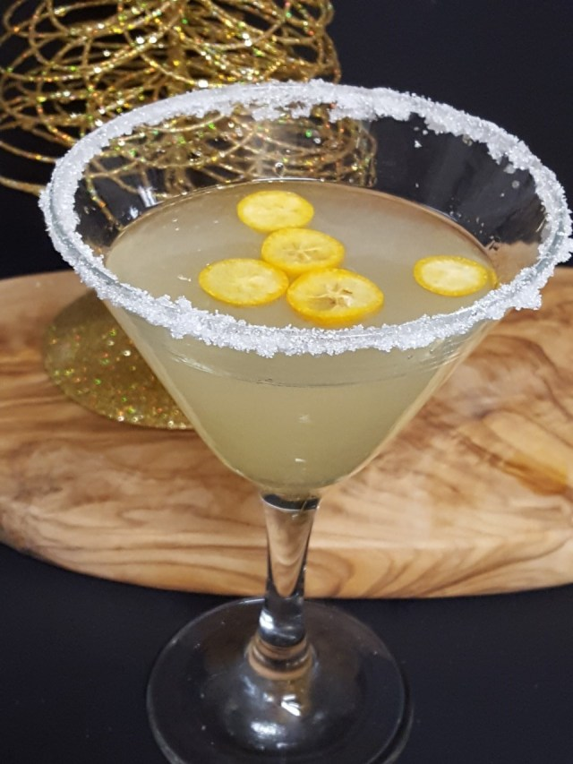 Kumquat Meyer Lemon Martini
