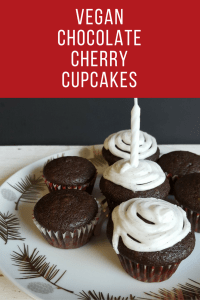 Vegan Chocolate Cherry Cupcakes