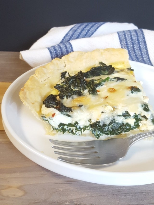 Kale and Gruyere Quiche