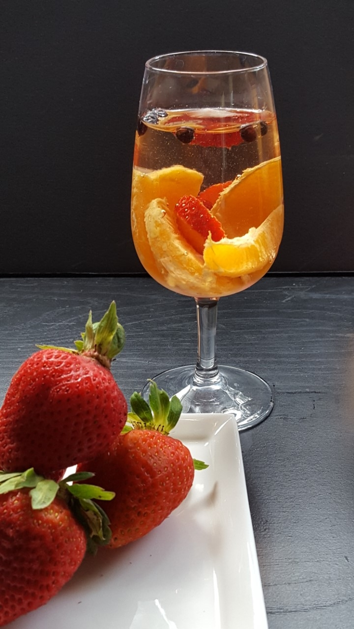 one glass sangria