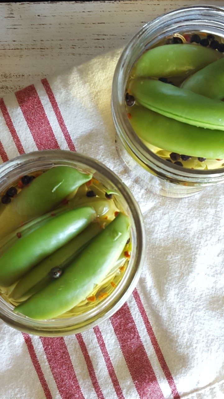 Quick Refrigerator Pickled Peas
