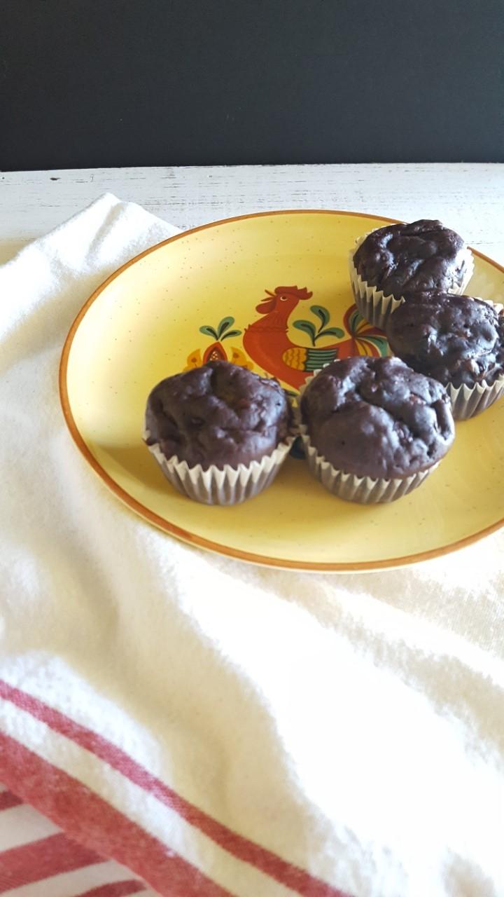 Zucchini Carrot Chocolate Muffins