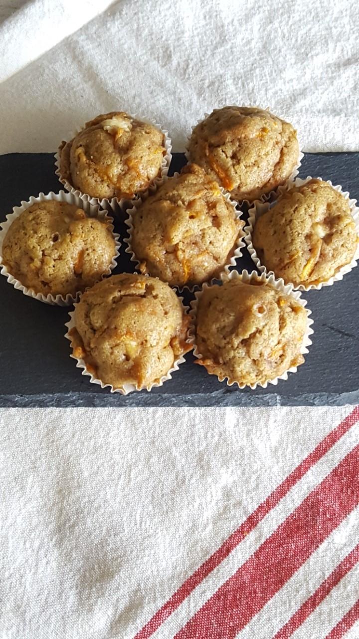 Carrot Cake Cream Cheese Mini Muffins