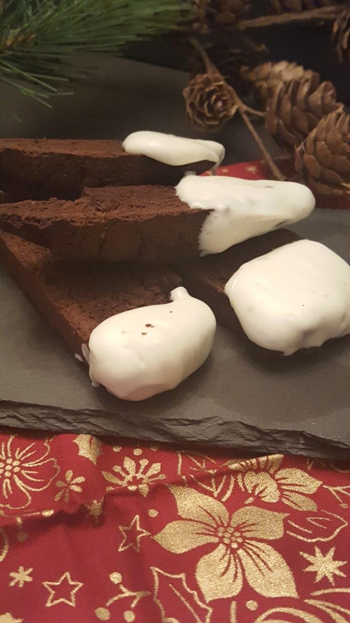 Triple Chocolate Peppermint Biscotti