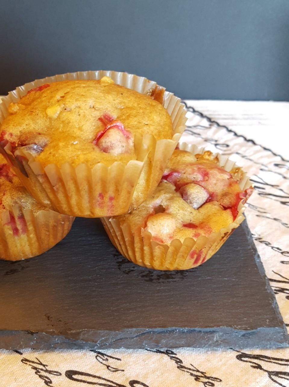 Cranberry White Chocolate Muffins