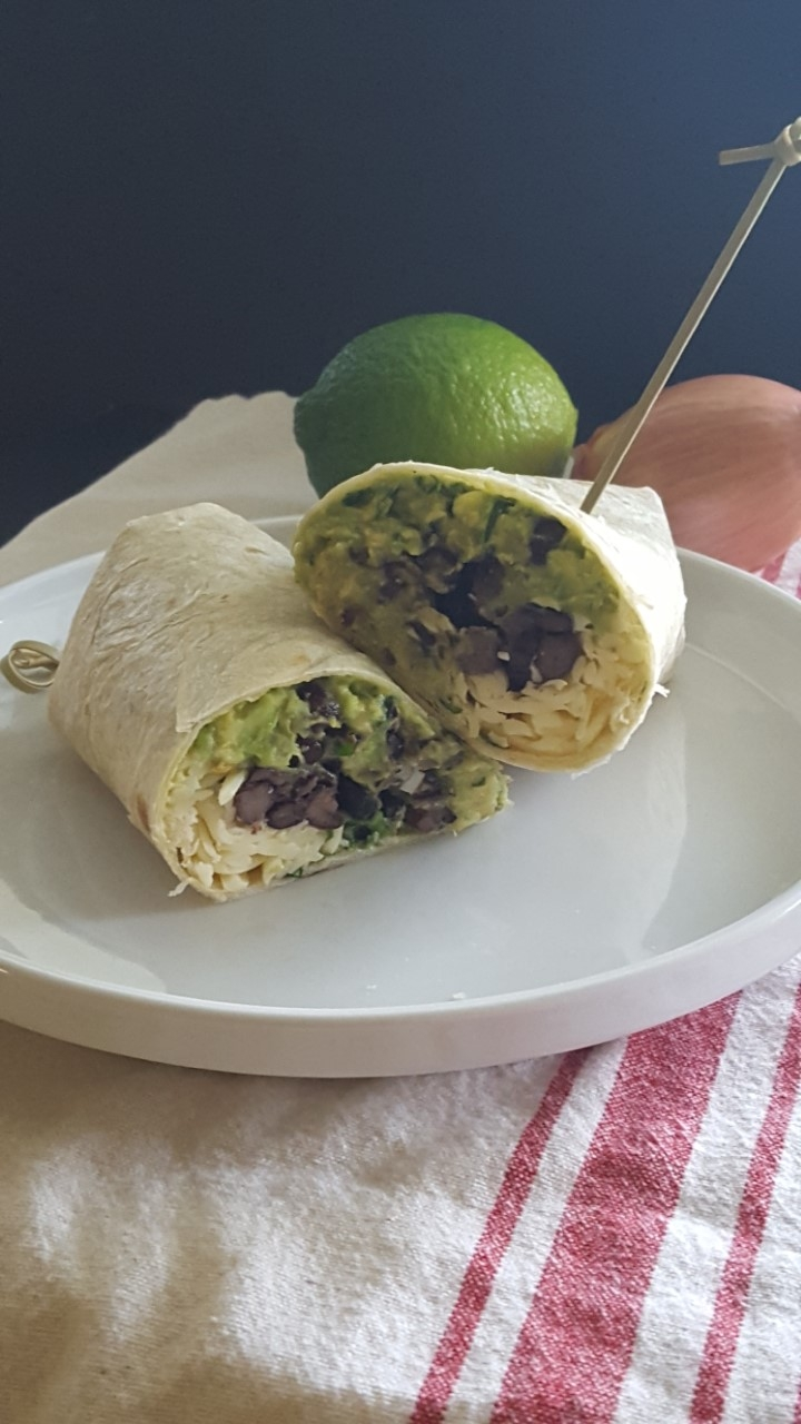 Guacamole Black Bean Wraps