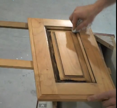 Wiping Glaze Off Cabinet Door With A Rag