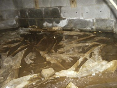 moisture and water in your crawl space