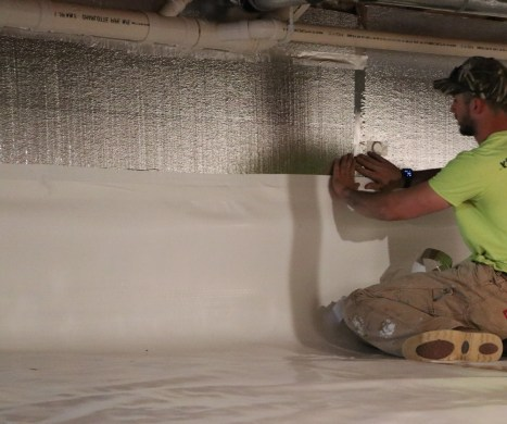 crawl space insulation install