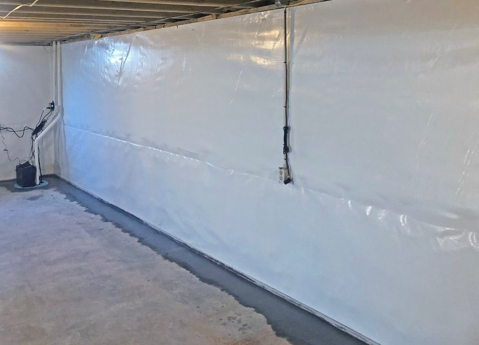 waterproofed basement in the south