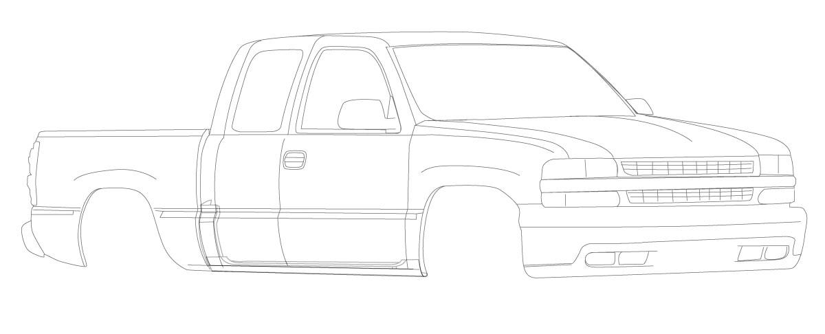 Chevy PickUp 99-07 Rust Repair Panels for Auto Body