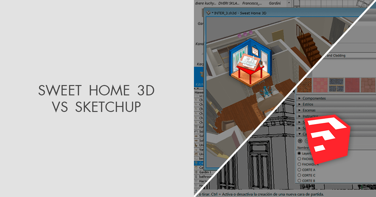 Sweet home 3d is a free architectural design software that helps users create a 2d plan of a house, with a 3d preview, and decorate exterior and interior. Sweet Home 3d Vs Sketchup Which Software Is Better