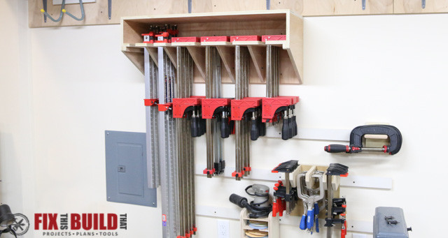 Space Saving Parallel Clamp Rack  FixThisBuildThat