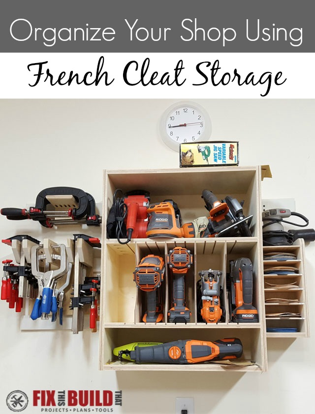French Cleat Tool Wall