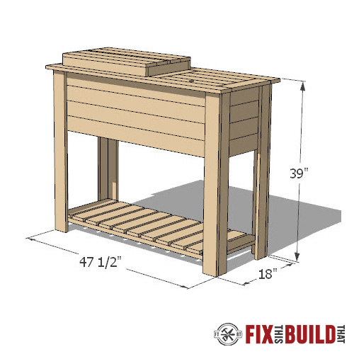 how to build a diy patio cooler cart