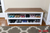 DIY Entryway Shoe Storage Bench | FixThisBuildThat