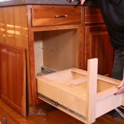 Kitchen Cabinet Plans Utensil Organizer Diy Pull Out Trash Can | Fixthisbuildthat