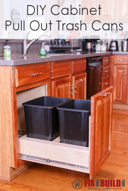 pull out kitchen cabinet 2 seater table diy trash can fixthisbuildthat in a