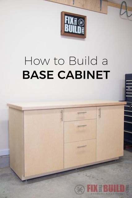 How to Build a Base Cabinet with Drawers
