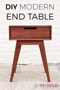 Modern DIY End Table / Side Table | FixThisBuildThat