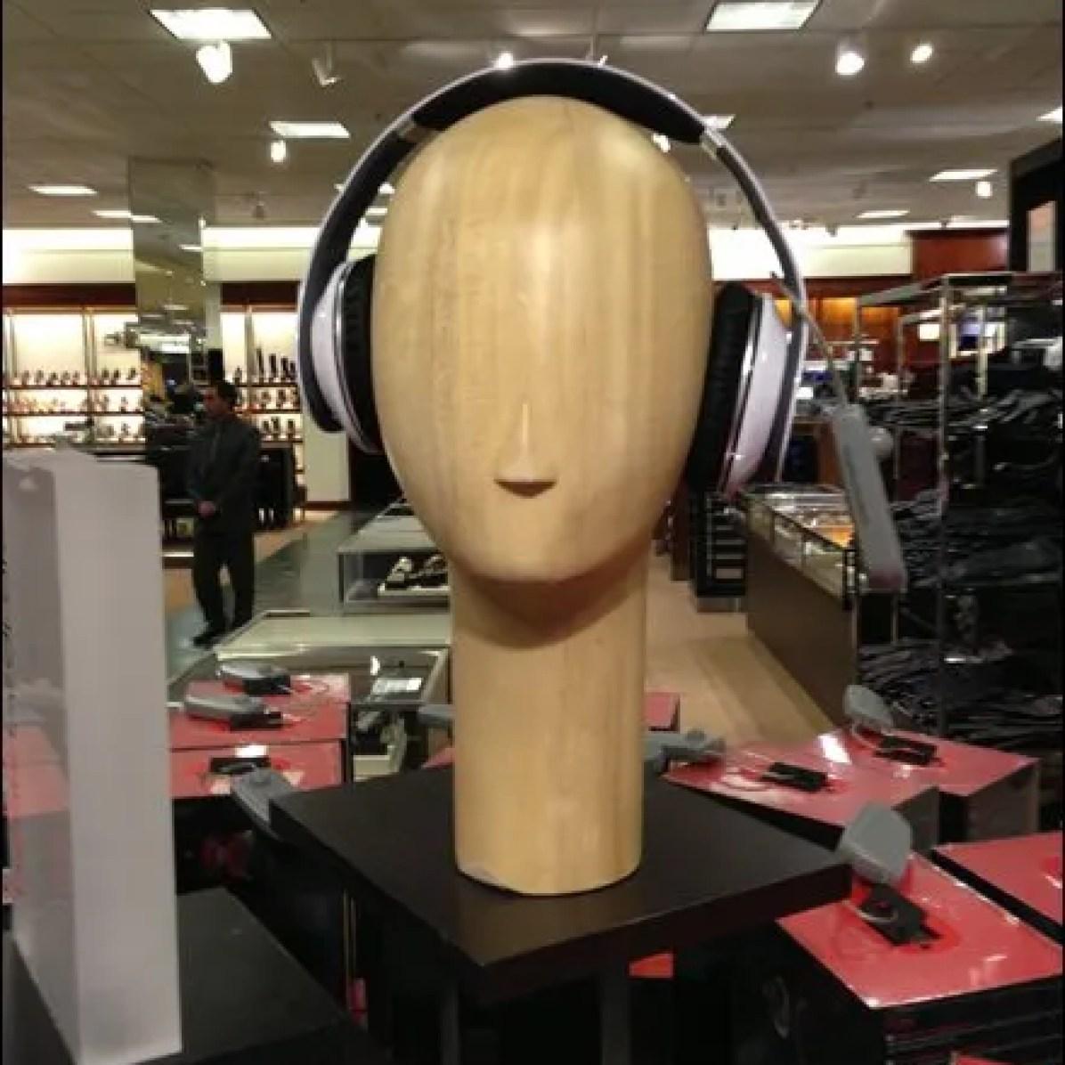 Wood Headphone Headform Overall