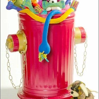 Fire Hydrant Bulk Bin Pet Toy Display