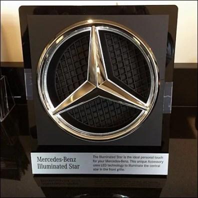 Mercedes benz as christmas ornament fixtures close up for Mercedes benz illuminated star