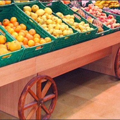 Produce Cart Wagon Wheels 2