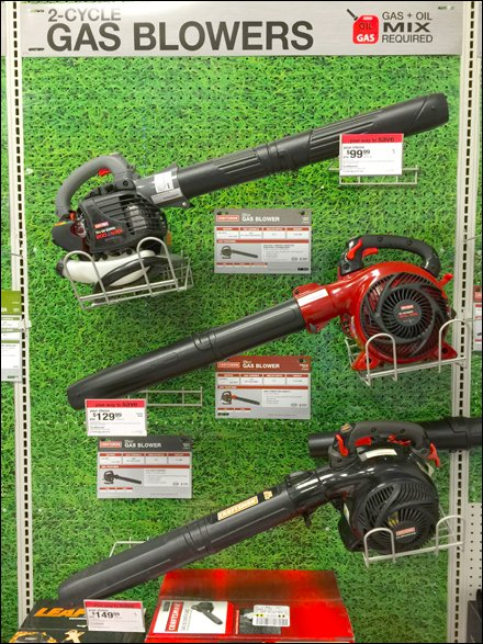 Craftsman 174 Gas Leaf Blower Trays Fixtures Close Up