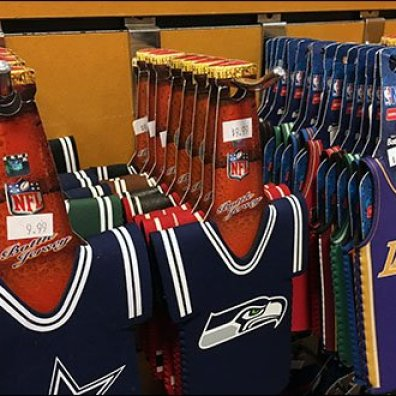 NFL Bottle Cozy Slatwall Display Hook 2