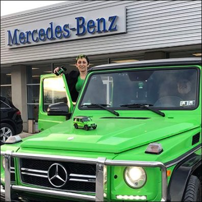 Mercedes Benz G63 AMP Alien Green Scale Model 2