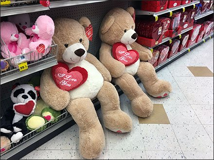 Poor Posture Plush Teddy Bears for Valentines Day