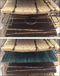 Declined Carpet Samples  Fixtures Close Up