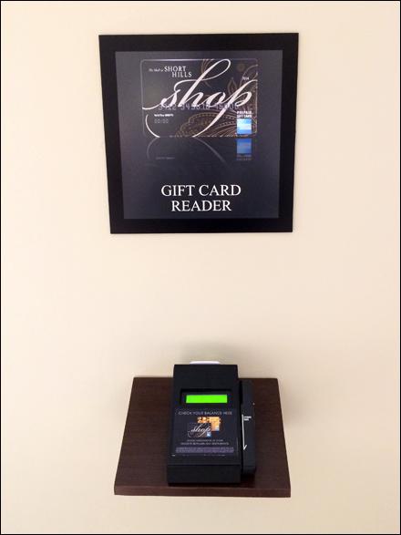 MallWide Gift Card Reader  Fixtures Close Up