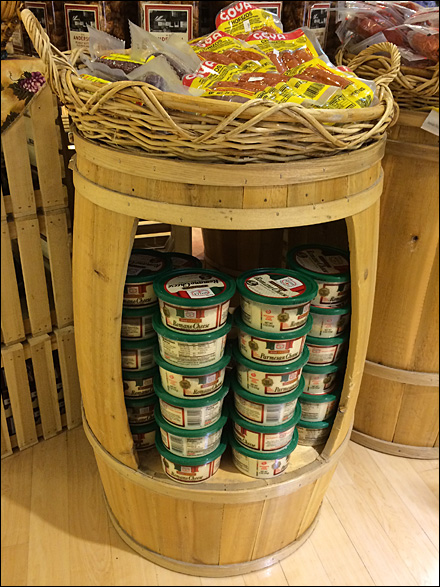 Pimped Out Wooden Pickle Barrel Fixtures Close Up