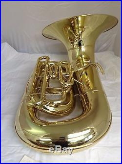 CONN 20J 3 VALVE SHORT ACTION BBb BRASS TUBA COMPLETELY