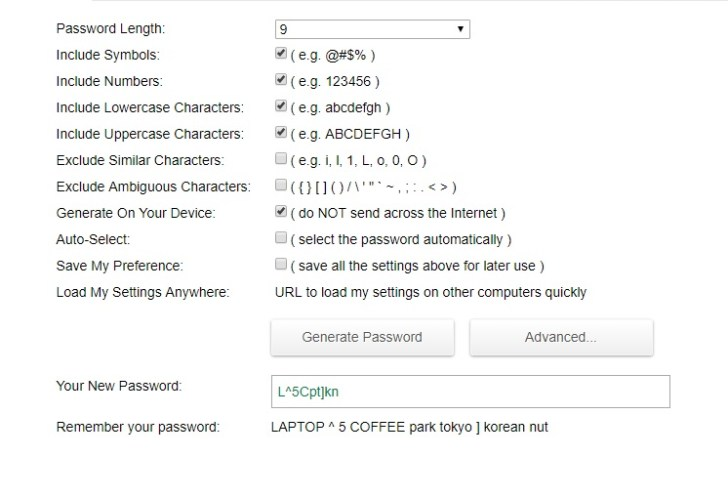 Use Password Generator And Note It