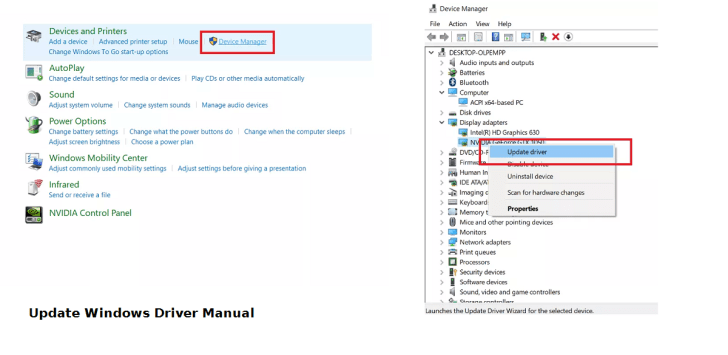 Update Windows Driver Manual